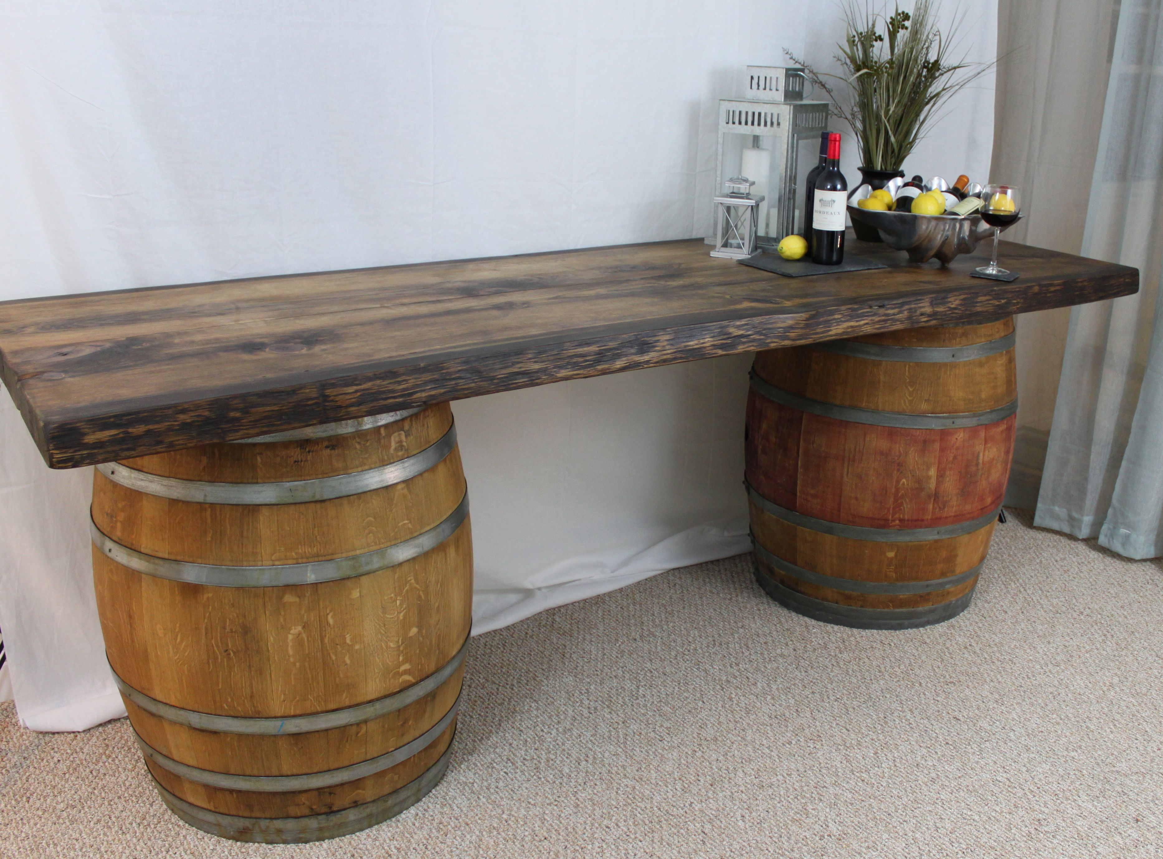 Wine barrel table the cinquecento project Table making ideas